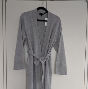 Theory long cardigan  with tie/ Size P